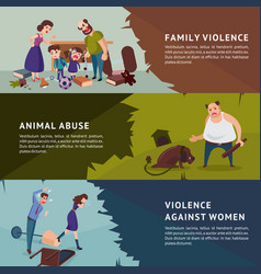 social aggression horizontal banners vector image