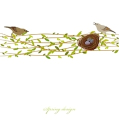 Spring twigs background vector