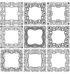 Square black frame set vector