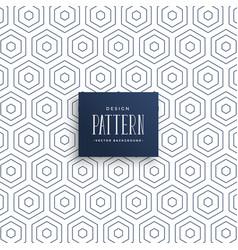 Subtle hexagonal lines pattern background vector