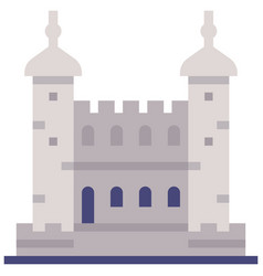 tower of london flat vector image
