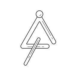 Triangle instrument line icon vector