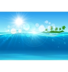 tropical island in ocean for background design vector image