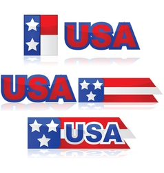 USA badges vector