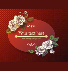vintage card with hand drawn roses vector image