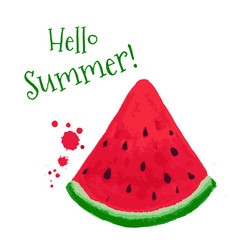 watermelon card vector image