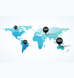 world map earth infographic design country europe vector image