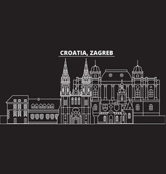 Zagreb silhouette skyline croatia - zagreb vector