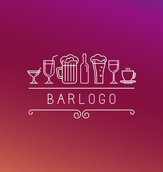 bar logo in linear style vector image vector image