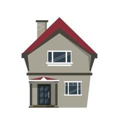 cartoon american house domestic chimney vector image vector image