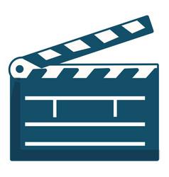 clapboard icon cartoon style vector image