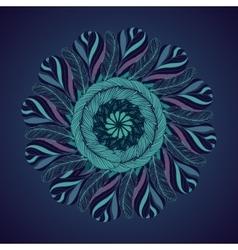 Feathers mandala Circle isolated ornament Ethnic vector image