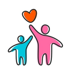 love heart parent icon vector image vector image
