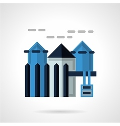 Rental of property flat icon vector