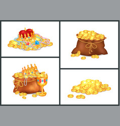 treasure collection poster vector image vector image