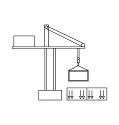 Truck crane icon outline style vector image