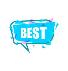best speech bubble with expression text vector image