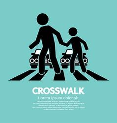 Crosswalk Graphic Sign vector image vector image