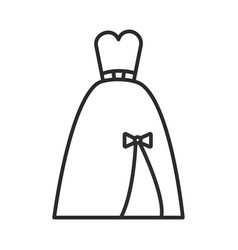 evening bridal dress line icon sign vector image vector image