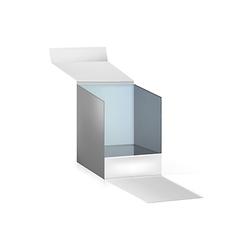 gray opened box vector image