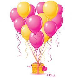 balloons heart gift vector image