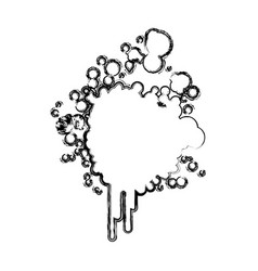 blurred silhouette ink splash icon vector image