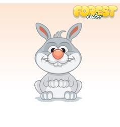 Cute Cartoon Little Rabbit Funny Animal vector image vector image