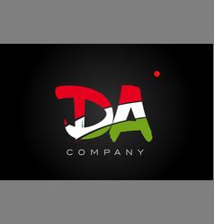Da d a alphabet letter logo combination icon vector