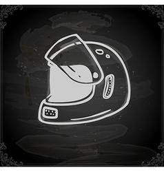 Hand Drawn Bikers Helmet vector image