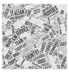 Italy text background wordcloud concept vector image vector image