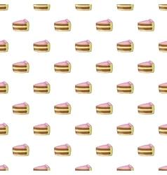 Piece of cake pattern cartoon style vector image