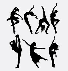 Cool dancing silhouette vector