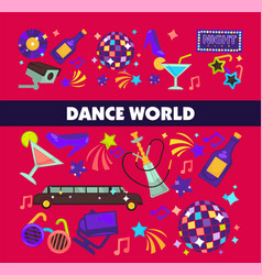 dance world color flat glamor celebration vector image vector image