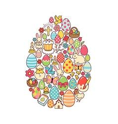 Easter egg symbol vector image vector image