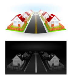residential houses vector image vector image