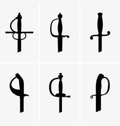 Sword hilts vector