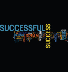The need to be successful text background word vector