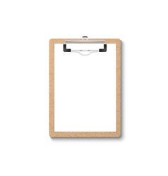 3d realistic brown craft clipboard vector