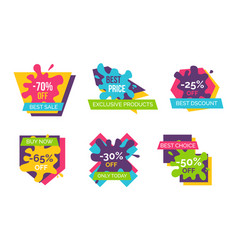 70 off best sale stickers vector image