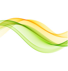 Abstract background with yellow green vector