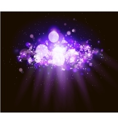 Abstract magenta bokeh and light background vector