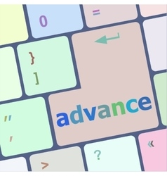 Advance on computer keyboard key enter button vector