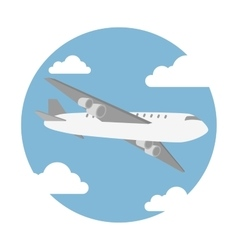 Airplane flying design vector