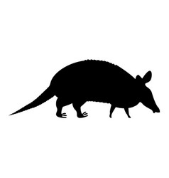 Armadillo icon black color flat style simple image vector