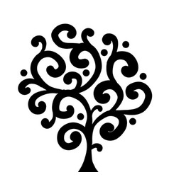 art tree black silhouette for your design vector image