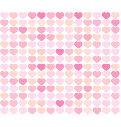 background red and pink hearts vector image