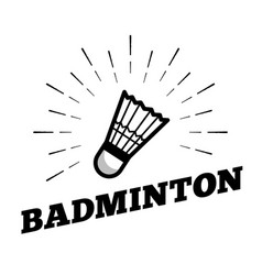 badminton sport shuttle cock ball logo icon sun vector image