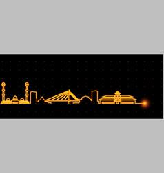 Bandung light streak skyline vector