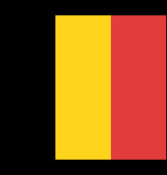 belgium flag official colors vector image