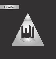 Black and white style icon mountain avalanche vector